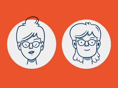 Mad About Specs nonbinary vision eyewear branding corporate procreate design character drawing illustration