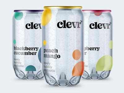 Clevr Packaging drink soda typography packaging design packaging