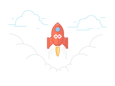 Screenhero Feedback illustration rocket screenhero cloud line