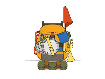 A Wilderness Explorer... illustration design disney adventure backpack badges explore pixar russell survival up wilderness