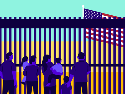 theSkimm: 'Zero Tolerance' Policy Explained current events united states immigration editorial vector illustration
