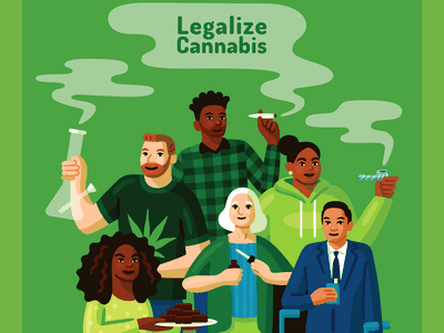 Legalize Cannabis weed pot cannabis activism poster vector illustration