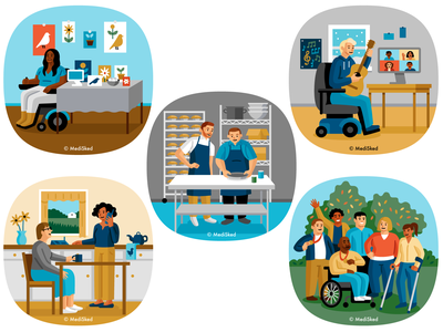 MediSked disability medical vector illustration