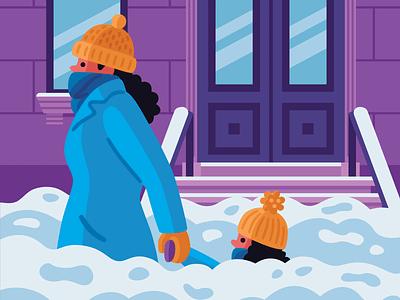 Snow Day winter snow vector illustration