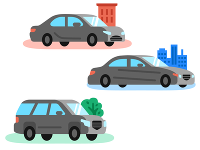 Vehicles spot illustration suv car vehicles vector illustration