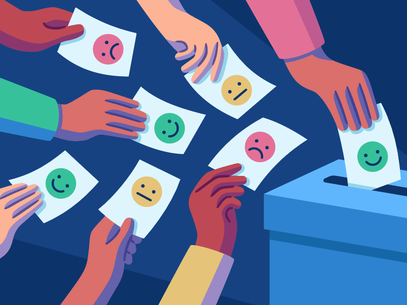 Product Feedback opinion voting feedback editorial vector illustration