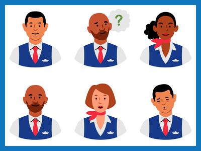 Flight attendant icons