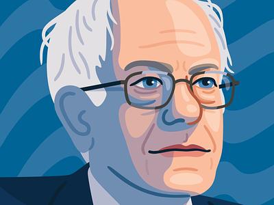 Bernie 2020 bernie sanders portrait politics vector illustration