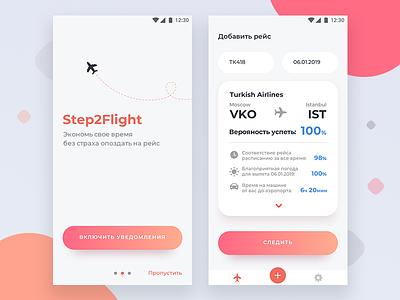Step2 Flight app conception minimal ux android save time simple flight app app