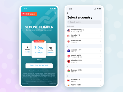 Second Number app redesign.