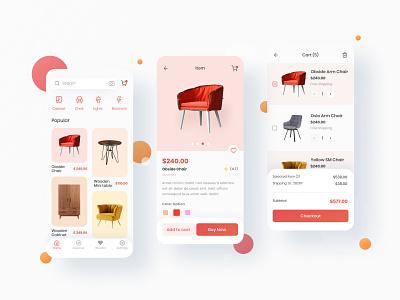 Antk Home furniture uxui ios app design ux design minimal shopping interior clean furniture app ui design
