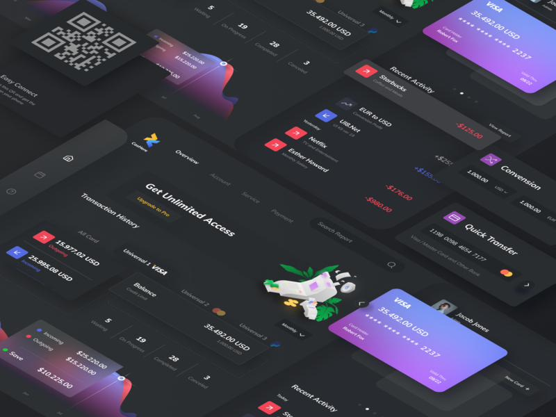 CasHere Dashboard exploration illustration design flat dashboard design clean clean ui wallet wallet ui illustration dark theme dark mode dark ui dashboard ui dashboard app dashboad ui design