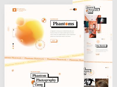 Landing page #exploration photography website designs minimal typogaphy dope branding header web clean homepage landing page website flat ui design