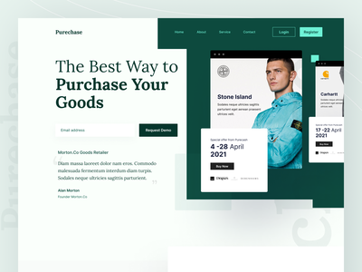 Purecash Landing page exploration icon flat clean ui lookbook design clean comparison price minimal header clean app web branding hero homepage website ui landing page design