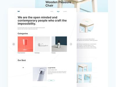 Nuos Product design work page exploration work layout product design clean minimalism minimal ui flat branding logo illustration hero website homepage landing page design