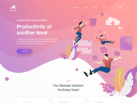 Airtask management tool landing page hero