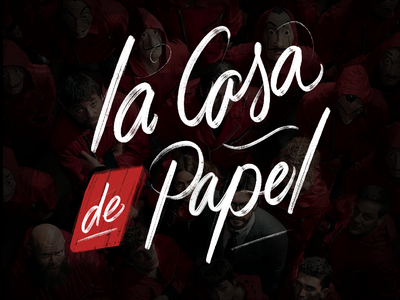 La casa de papel lettering mardy illustration social branding design hiring graphic lettering ipad pro ipad procreateapp typogaphy calligraphy lacasadepapel