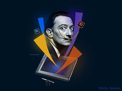 Graphic Design graphic design salvador dali social media illustrator photoshop campaign hiring