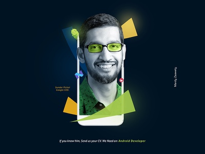 Hiring Campaign campaign android media social dali salvador photoshop illustrator hiring design graphic