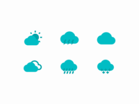 Dual Tone Weather Icons weather weather icon teal dual tone icons