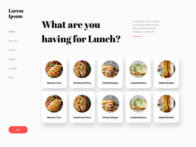 Restaurant Website burger taco pizza website design restaurant