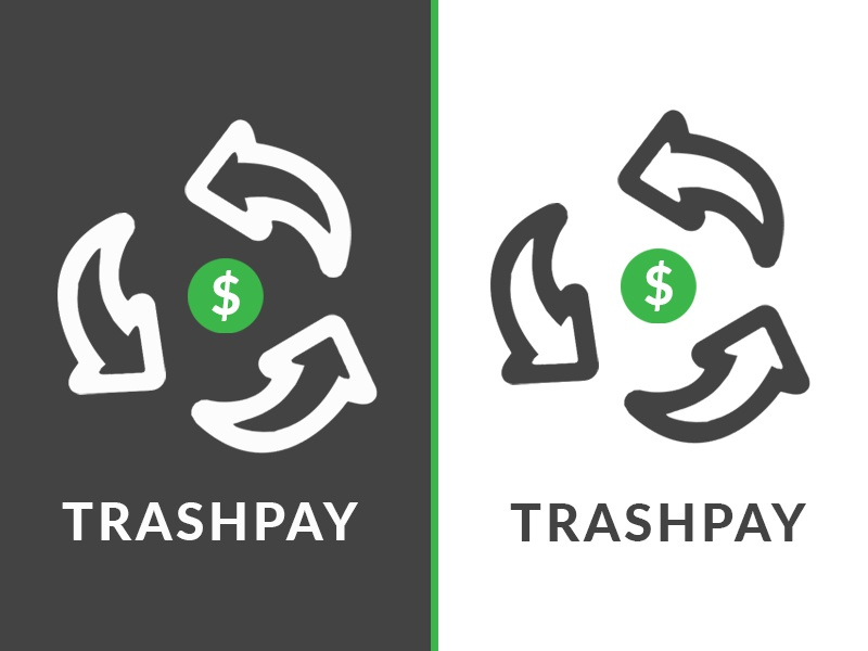 Trashpay green money logo recycling recycle