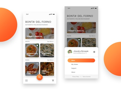 Restaurant App UI/UX ux designs ui designs uiux material design restaurant app