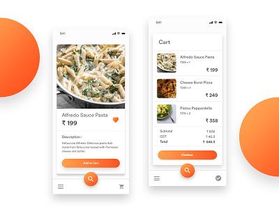 Restaurant App UI/UX android app ux designes ui designs uiux material design restaurant app