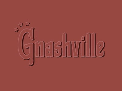 Gnashville illustration stars hand lettering typography music city tennessee gnashville nashville