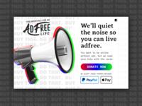 AdFree Donation Page