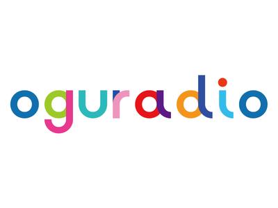 oguradio color text logo text typography logo