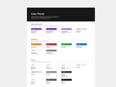 Color system for design system in Sketch uidesign ui library design system color palette color system