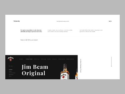 Minimalistic agency website header minimalistic userinterface website concept landing page adobexd ux ui