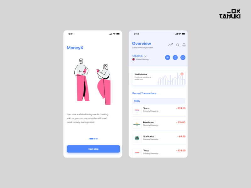 MoneyX userinterface concept modern adobexd ux ui