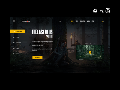 The Last of Us Part 2 header web design minimalistic userinterface concept modern landing page collaboration adobexd ux ui