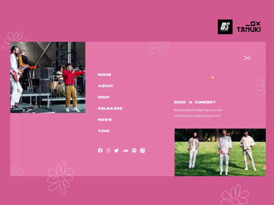 Miami Horror Concept Website band music web design minimalistic userinterface concept modern landing page adobexd ux ui