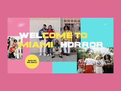 Miami Horror Concept Website band music web design minimalistic userinterface concept modern landing page adobexd ux ui