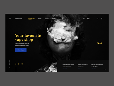 VapeMadness   - Vape Shop e-commerce header userinterface concept website modern landing page adobexd ux ui