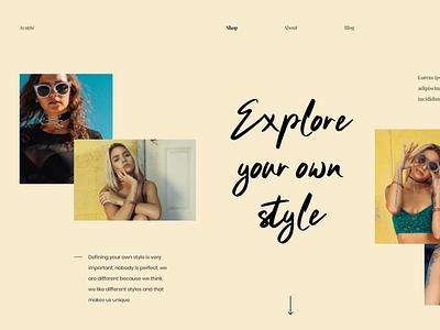 Avanté e-commerce minimalistic userinterface concept website modern landing page adobexd ux ui