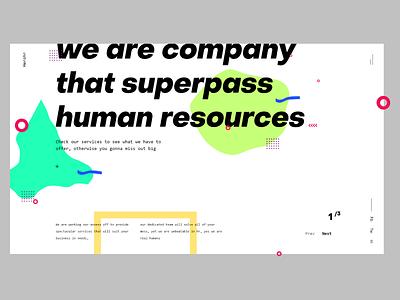 Hero Human Resources brutalist design minimalistic userinterface concept website modern landing page adobexd ux ui