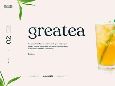 greatea store minimalistic e-commerce concept modern landing page adobexd ux ui