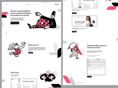 Digital Agency Landing Page header minimalistic userinterface website concept modern landing page adobexd ux ui