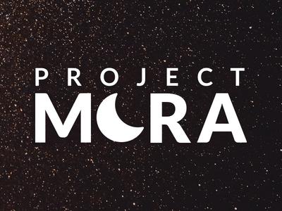 Project Mora Branding logo branding moon stars space