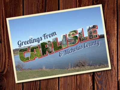Retro Postcard postcard logo branding tourism retro