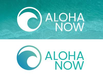Aloha Now Branding logo swimwear fashion identity branding beach
