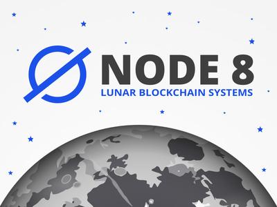 Space Mining Branding logo crypto blockchain branding lunar mining space