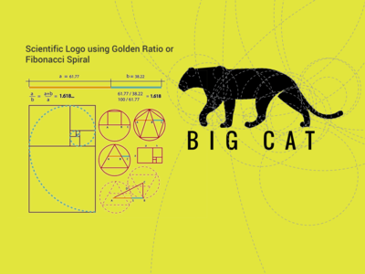Big Cat GOLDEN RATIO fibonacci goldenratio logo