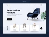 Minimal Furniture Landing Page