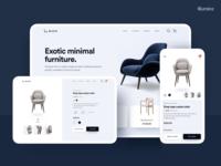 Minimal Furniture detail page - Web & Mobile