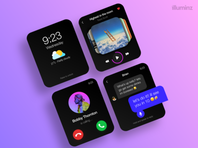 Apple watch UI snippet